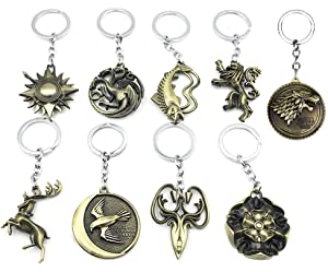 Amazon.com: Game of Thrones Keychain 9PCS in 1 Including ...