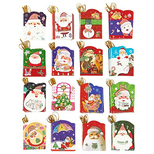 128-Count Christmas Gift Tags – Value Pack – Easy Access Packaging, Assorted Christmas Designs, 2.1 x 2.7 Inches