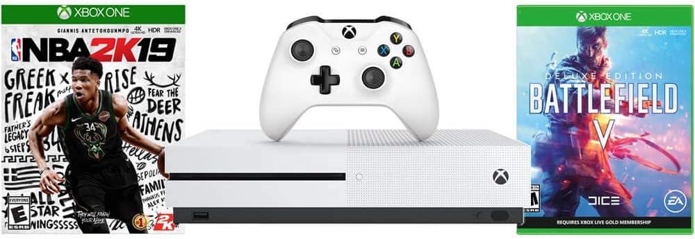 Microsoft XBOXSNBABATF Consola Xbox One S con NBA 2K19 + ...