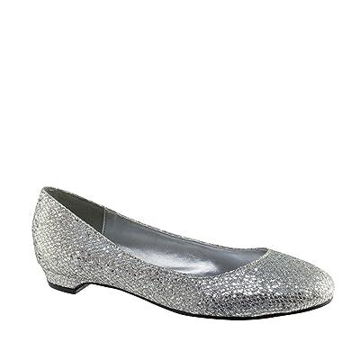 Touch Ups 415WO Tamara Silver Synthetic Women's Flats Shoes