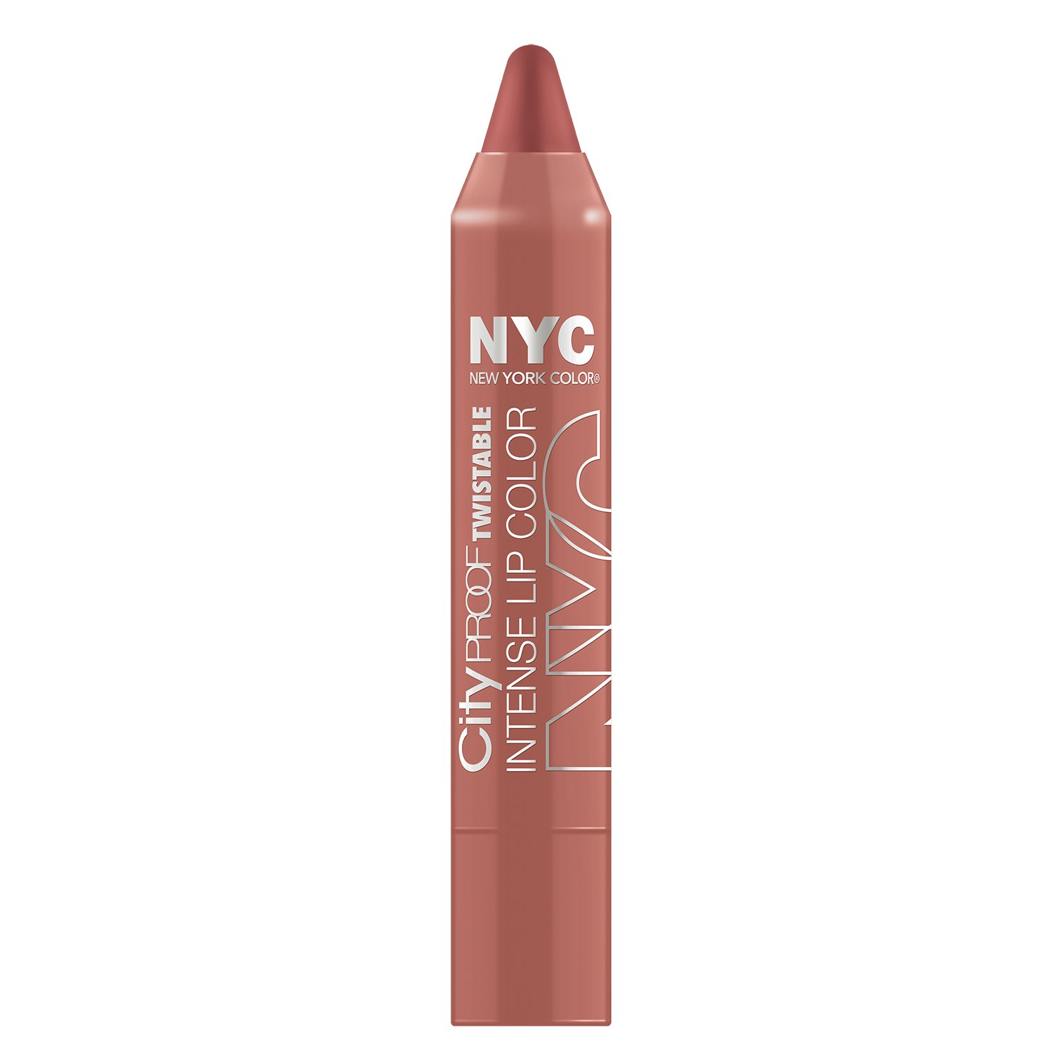 N.Y.C. New York Color City Proof Twistable Intense Lip Color, Brooklyn Brown Stone, 0.09 Ounce Coty 27422110011
