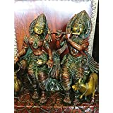 Radha Krishna Statue Hindu Idol Indian Sculpture Brass- Symbol of the Love Hindu Art