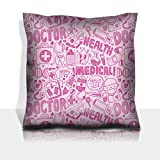 Luxlady Throw Pillowcase Polyester Satin Comfortable Decorative Soft Pillow Covers Protector sofa 16x16, 1 pack IMAGE ID: 32310870 seamless doodle medical pattern