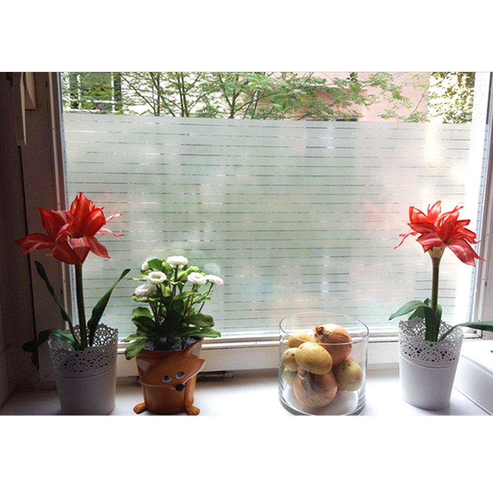 Amazon Aingoo Streifen Blickdicht Fensterfolie