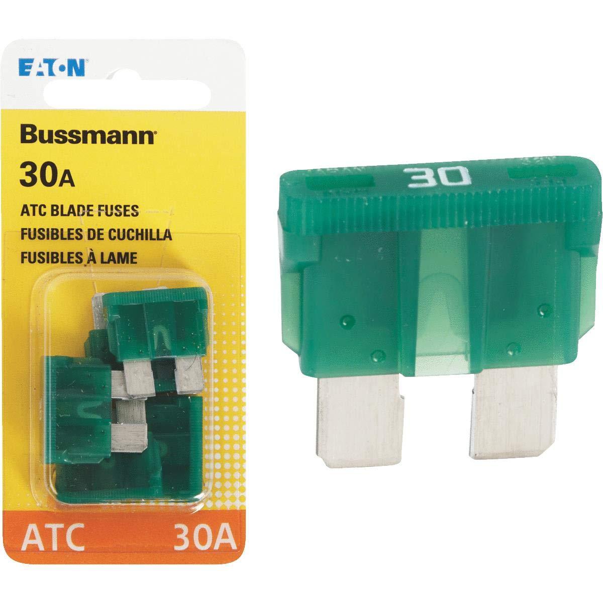 30 Amp ATC Blade Fuse Bussmann Pack of 5 BP//ATC-30-RP