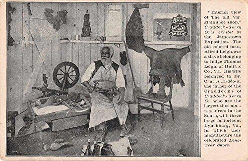 jamestown-expo-craddock-terry-co-shoe-maker-black-americana-postcard-j62952