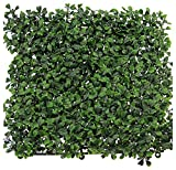 Synturfmats Artificial Boxwood Hedge Privacy Fence Screen Greenery Panels - Two Tone Green (20
