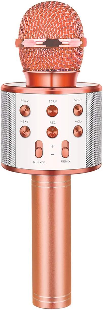 dmazing Microfono Karaoke Bluetooth Altavoz y Grabador KTV Tres en Uno - Juguetes y Regalos para Niños