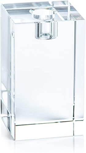 Zodax Romy Crystal Glass Taper Candle Candlestick Holder