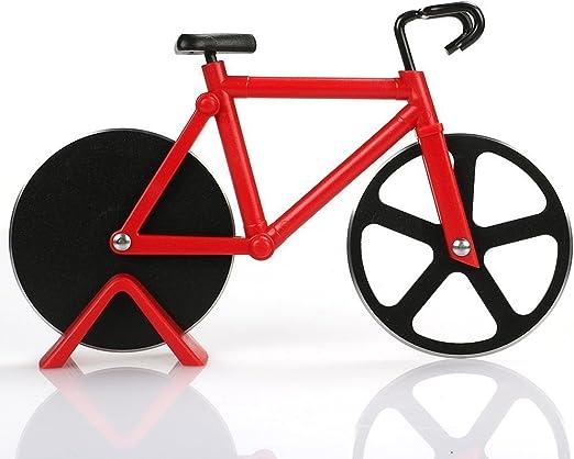 Compra Arnique Bicicleta Cortador de Pizza – Doble Corte de Acero ...