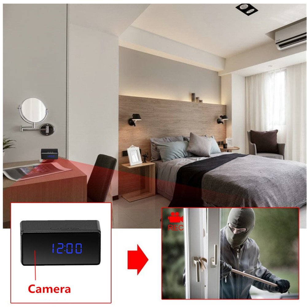 Oumeiou 8GB Full HD 1080P Hidden Spy Camera Clock IR: Amazon.co.uk ...