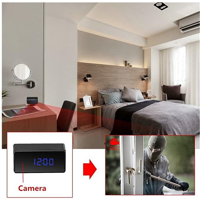 Oumeiou 8GB Full HD 1080P Reloj de cámara oculta con espía IR Grabadora de video remota con detección de movimiento, seguridad doméstica/seguridad infantil ...