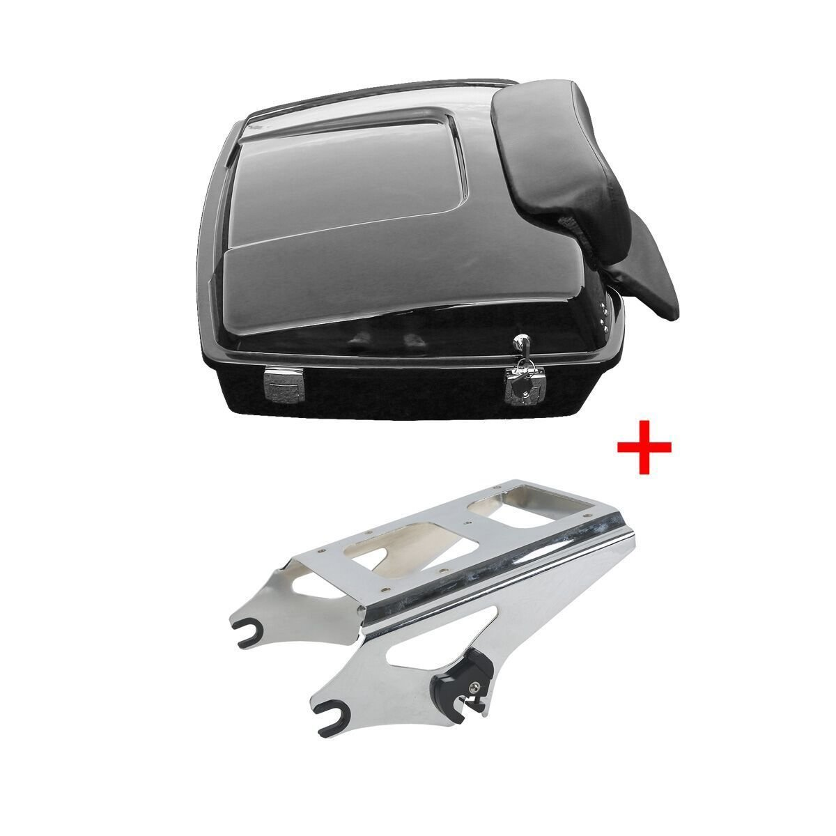 XFMT Razor Tour Pak Pack Trunk /& Mounting Rack For Harley Davidson Touring 2009-2013