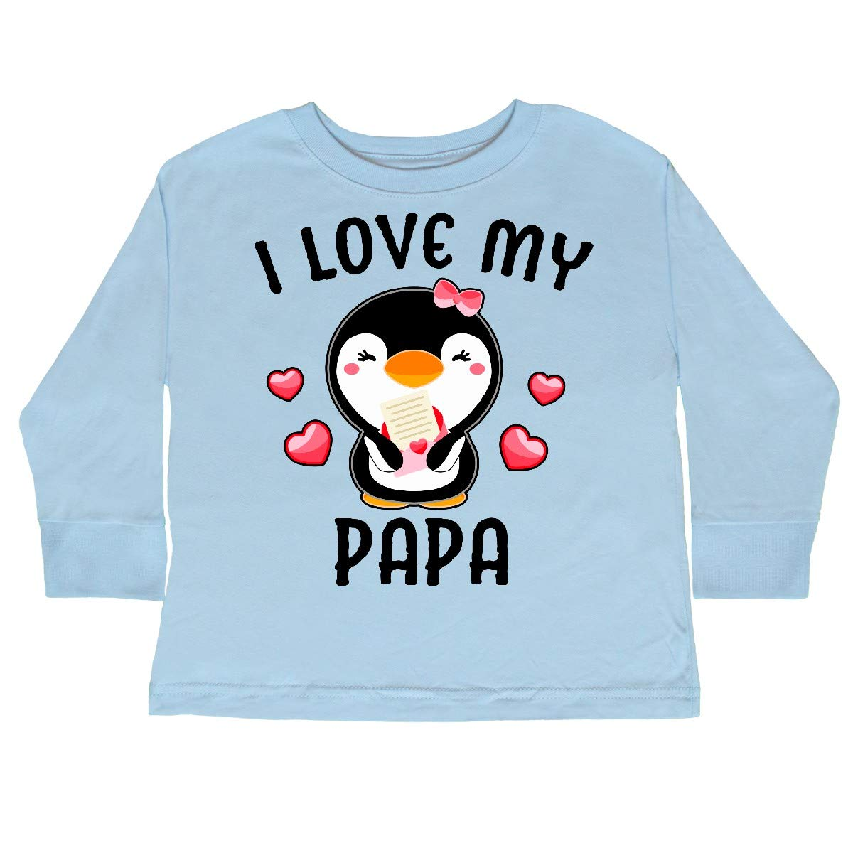 inktastic I Love My Papa with Cute Penguin and Toddler Long Sleeve T-Shirt
