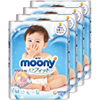 MamyPoko Moony Tape Diaper, M, 64 Count, (Pack of 4)