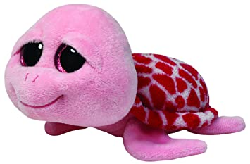 Desconocido Beanie Boos - Tortuga Rosa Shellby - Peluche 15 cm - Peluche Beanie Boos -