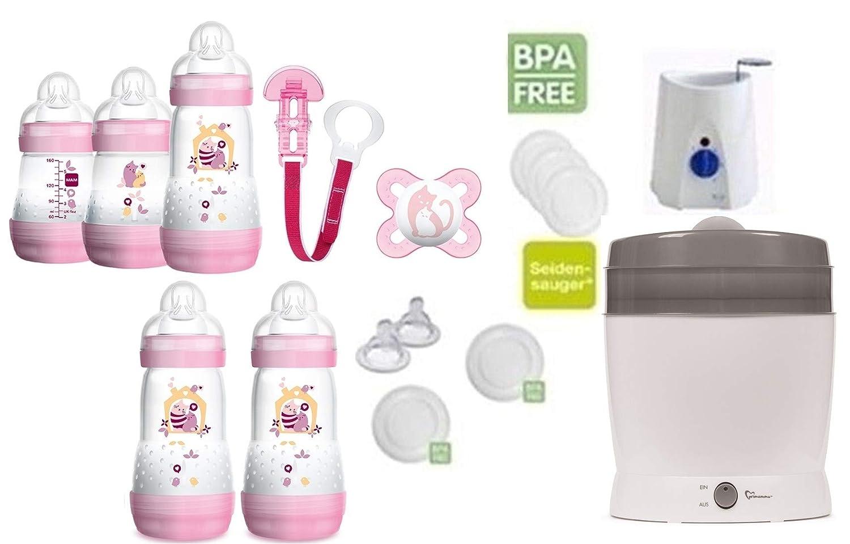 MAM primamma Set 6 M/ädchen Startset MAM Flaschen Sauger primamma Vaporisator Babykostw/ärmer 20 teilig