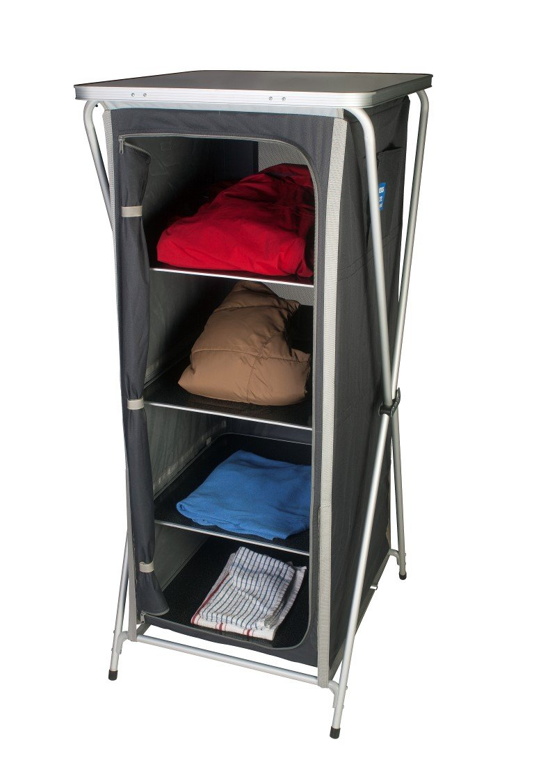 kampa grace cupboard 4 shelves aluminium frame