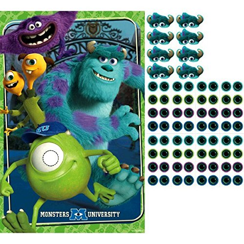 Sully Monsters Inc Costume For Sale (Amscan Monster-Mazing Disney Monsters University Birthday Party Game (4 Piece), Multicolor, 25