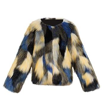 4614f272f5ed Amazon.com  Toddler Baby Girls Kids Winter Faux Fur Coat Jacket ...