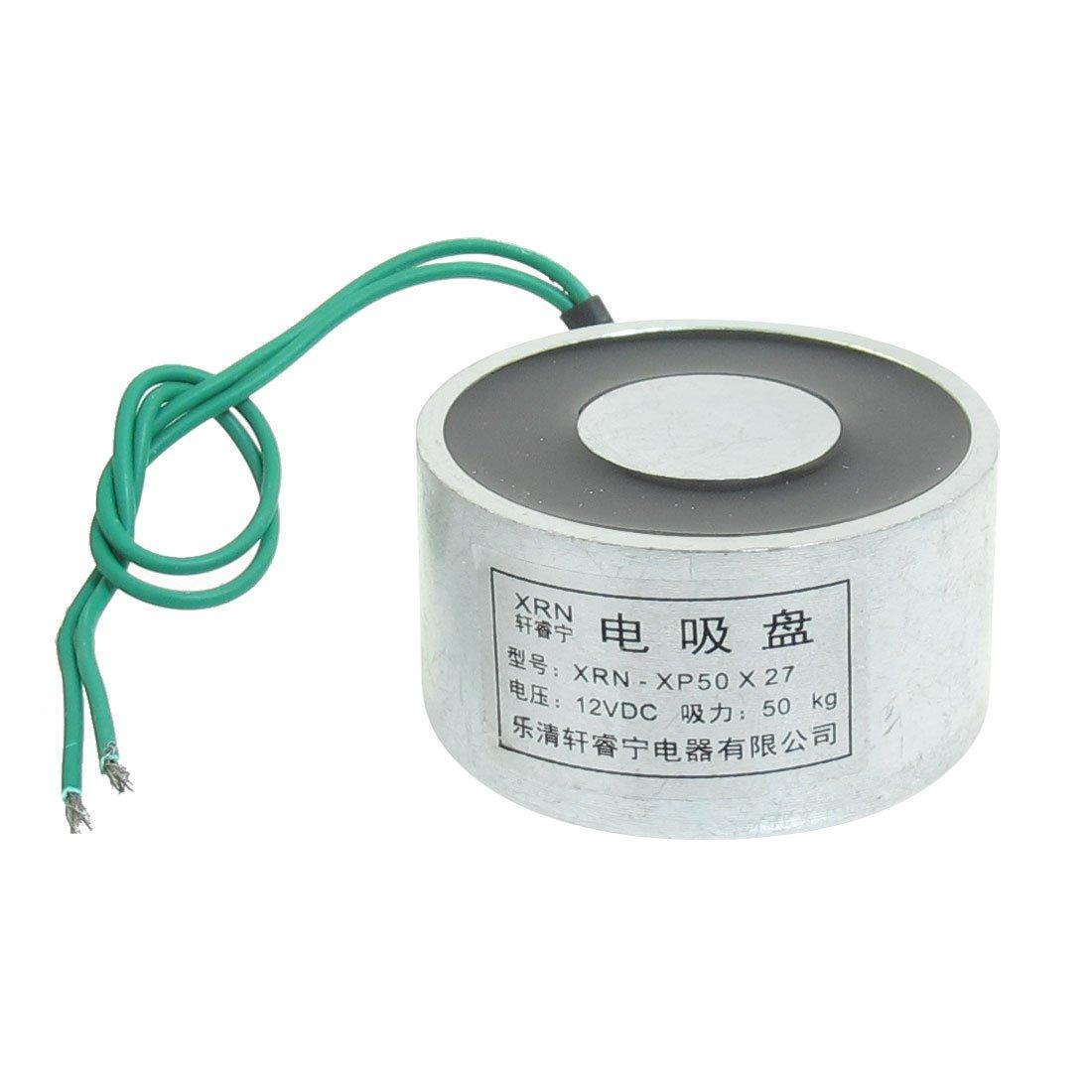Sourcingmap a13032500ux0520 - Aspirado imá n elevador electroimá n 12 vcc 50 kg 110 libras 50x27mm elé ctrica