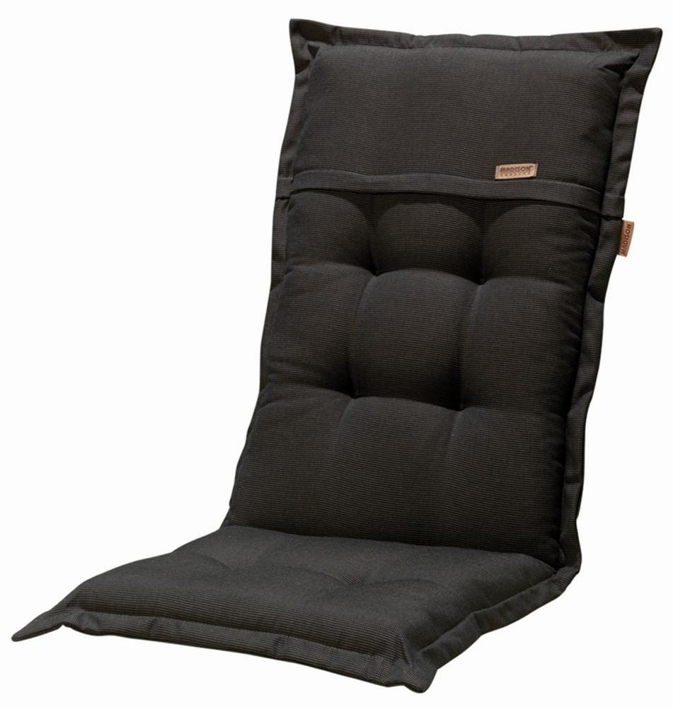 Madison Kissen für Klappstühle (dünn, 100% Polyester, 100x 50x 8cm) Número: 2 unidades schwarz