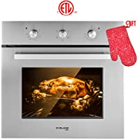 "Wall Oven, Gasland chef ES606MS 24"" Built-in Single Wall Oven, 6 Cooking Function, Stainless Steel Electric Wall Oven With Cooling Down Fan, 3 Layer Glass, ETL Safety Certified & Easy To Clean"