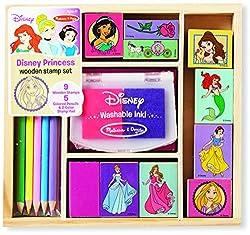Melissa & Doug Disney Princess Wooden Stamp Set: 9...