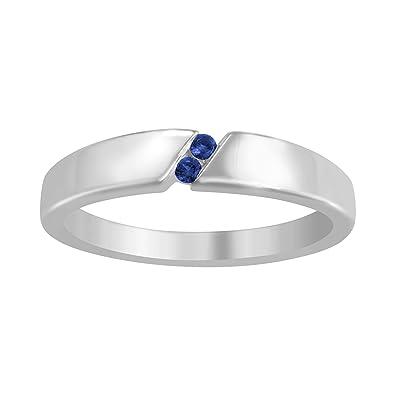 2d97c77a7e4 ArtCarved Tuxedo Genuine Blue Sapphire Men s Ring