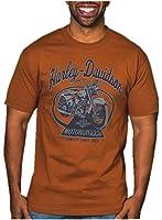Harley-Davidson Men's Vintage Ride Short Sleeve Crew Neck T-Shirt, Texas Orange