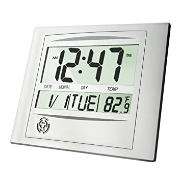Desk Day Calendar Large Lcd Alarm Clock Digital On Ideas