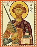 St. Olaf King of Norway Traditional Panel Russian Orthodox icon