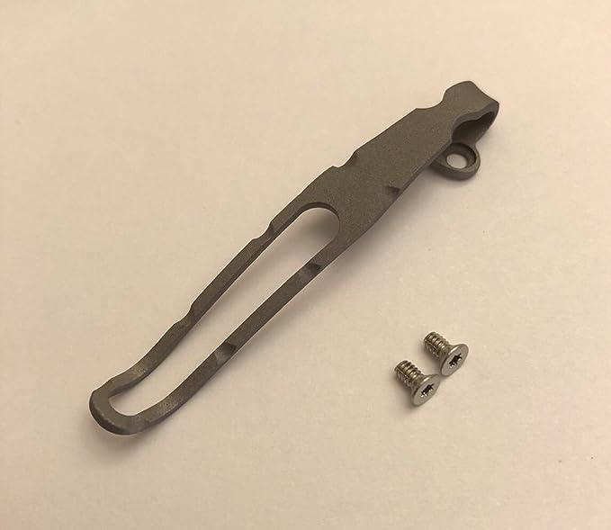 Custom Made Titanium Deep Pocket Clip Compatible To Benchmade Mini 765 Tip Down