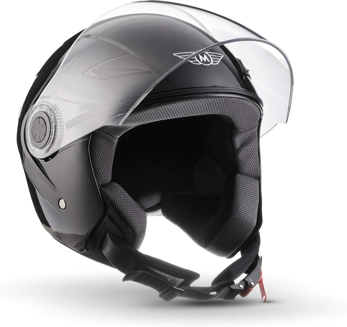 MOTO Helmets U52 Casque Gloss Noir 61-62cm XL ECE certifi/és compris le pare-soleil