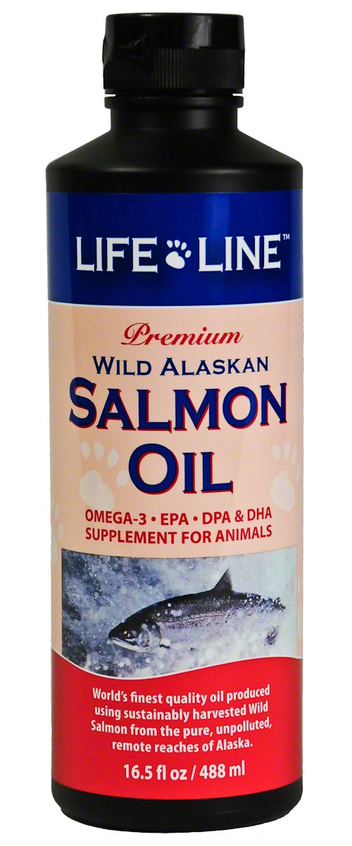Life Line Wild Alaskan Salmon Oil for Dogs and Cats, 16-1/2-Ounce