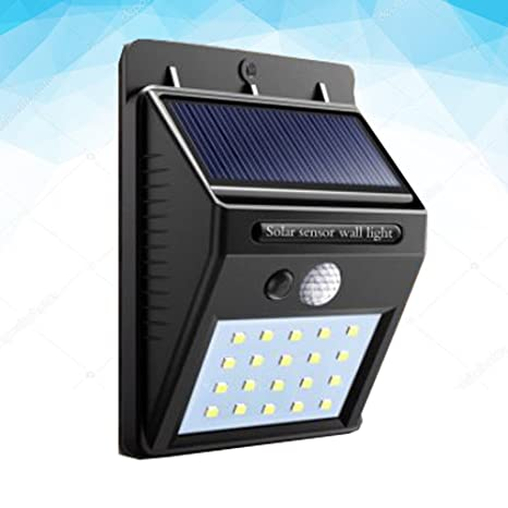 Luz LED Bombilla Panel Solar PIR sensor de movimiento para ...