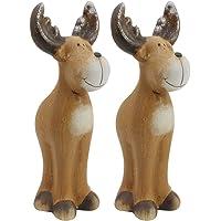 com-four® Figuras de cerámica Deco navideño en Diferentes