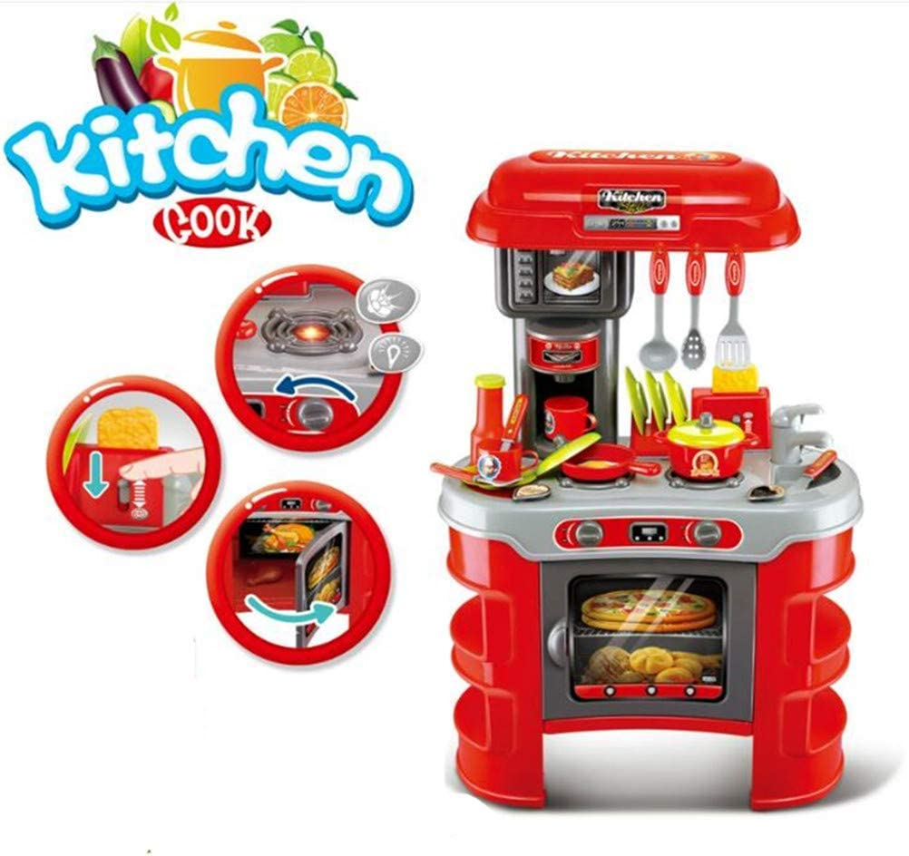 COLOR TREE Kids Play Kitchen Set Stove, Oven and Utensils for Girls Ages 1 to 2 - Complete Cooking PlaySet for Children (Cocina de Juguete para Niñas)