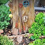 Miniature Fairy Garden Rustic Tools, 3 Piece Set - My Mini Garden Dollhouse Accessories for Outdoor or House Decor