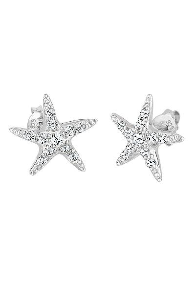 f6b64a9ff Elli Women Genuine Jewellery Earrings Stud Ear Starfish 925 Sterling Silver Swarovski  Crystals: Amazon.co.uk: Jewellery