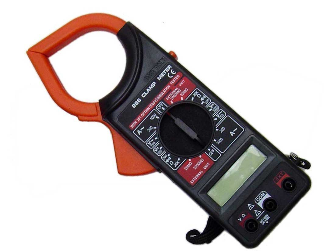 SHOPEE Clamp Meter Dt-266 Digital Clamp Multimeter DT266 For AC DC  Electricity Ampere Measuerment WITH BATTERY : Amazon.in: Home Improvement