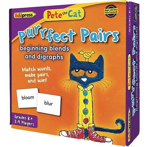 Digraphs Blends And (Pete the Cat PURRFECT PAIRS Game Beginning Blends and Digraphs)