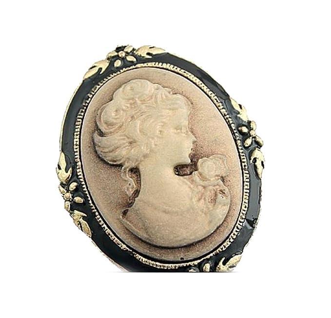 gift girl Vintage brooch,Golden metal and black enamel,Vintage jewelry,Gift Vintage,woman/'s brooch,woman jewelry,girl jewelry woman gift