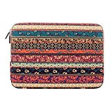 Plemo Bohemian Sleeve Canvas Fabric Carrying Notebook Case Bag, Bohemian Style (9.7 inch)
