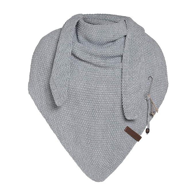 Knit Factory Umh/ängetuch COCO DELUXE light grey//silberglitzernd