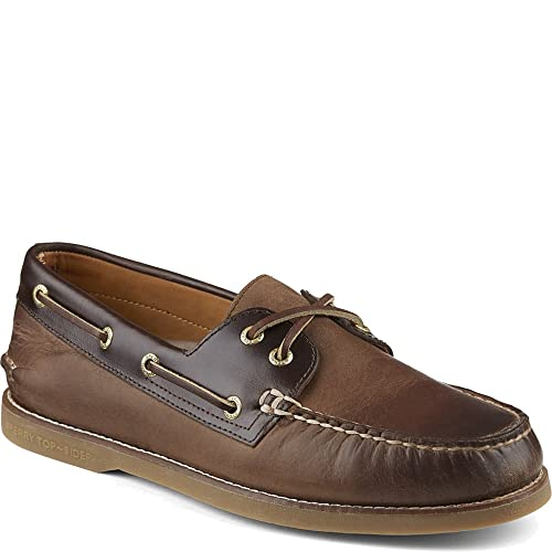 Zapato n¨¢utico dorado para barcos A / O de dos ojos para barcos / Amaretto 8 M (D) LiVJ6f
