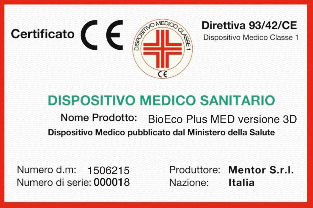 Materasso RINFRESCANTE Memory Med BioEco Plus Med 3D Singolo 80x195 DISP Mentor Medico DETRAIBILE 5 cm di Memory ad 11 Zone.