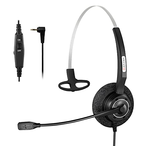 alpha-grp.co.jp Arama 2.5mm Telephone Headset Binauralwith Noise ...