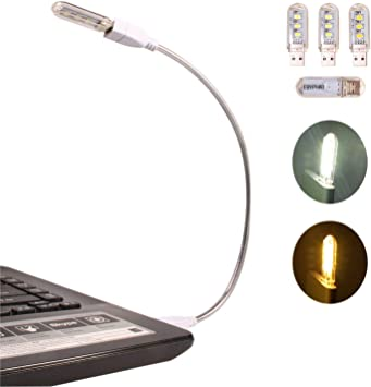 Ebyphan Flexible Luz USB, Mini Luz LED para Teclado Portatil ...