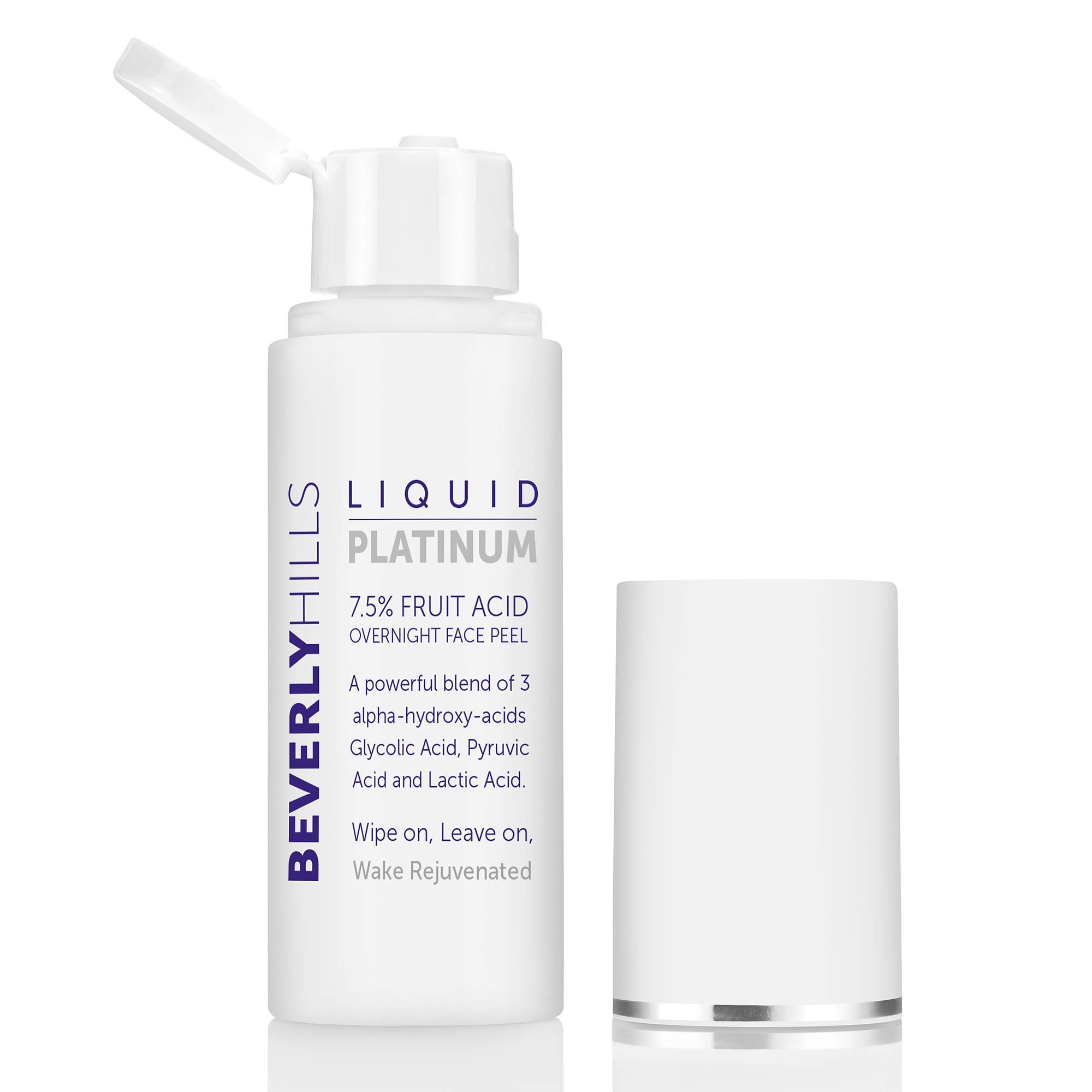 Beverly Hills 7.5% Liquid Platinum Fruit Acid Facial Peeling Solution with Glycolic Acid, Lactic Acid, and Pyruvic Acid